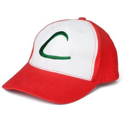 Ash Ketchum Cap Embroidery Trainer Trucker Hat Pokemon GO Cosplay Costume