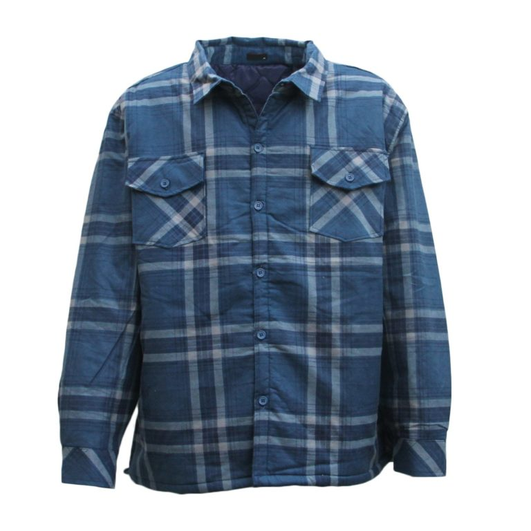 , Men's Flannelette Long Sleeve Shirt Premium Check Flannel Polar Jacket 3XL-6XL, Zmart Australia
