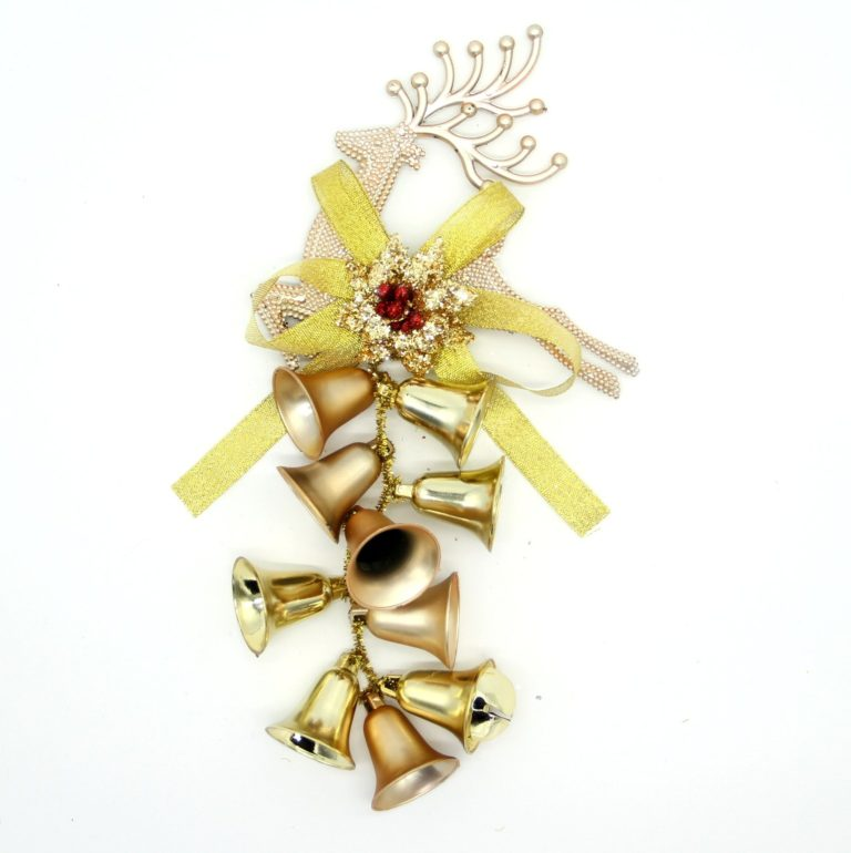, 3x New Christmas Reindeer Bells Xmas Hanging Tree Wall Ornament Party Home Décor, Zmart Australia
