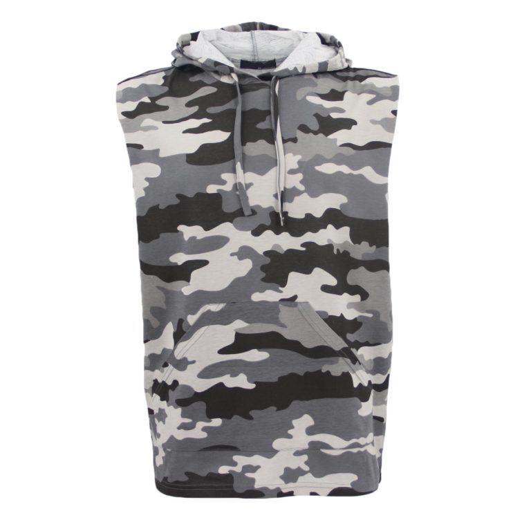 , Men's Sleeveless Hoodie Top T Shirt Camouflage Military Gym Muscle Vest Singlet, Zmart Australia