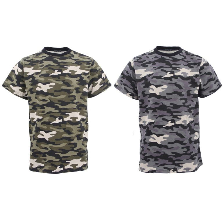 , Men's Short Sleeve Military Army Camo Camouflage Tactical Print Tee T Shirt Tops, Zmart Australia