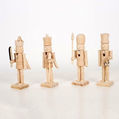 4x 14cm Christmas Wooden Nutcracker Soldier Figurine Puppet Toy Xmas Gift Decor