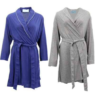 Womens Soft Bath Robe Night Dressing Gown PJ Pajamas Nightie Sleepwear