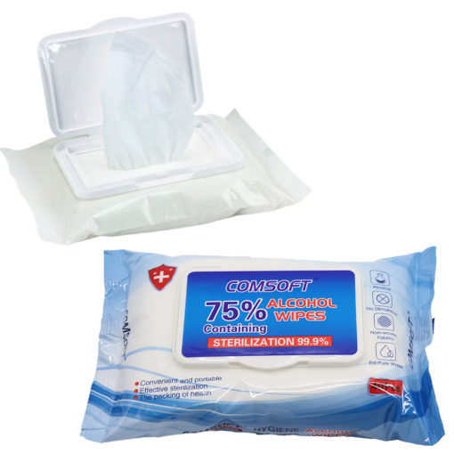 40-400x 75% Alcohol Wet Wipes Antibacterial Disinfectant Kill 99.9% of Germs