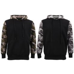 Adult Mens Pullover Fleece Lined Hoodie Camouflage Military Casual Jacket Jumper