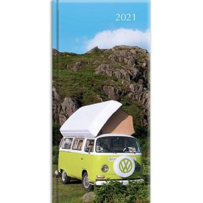 Camper Vans 2021 Premium Pocket Hard Cover Diary Planner Christmas New Year Gift