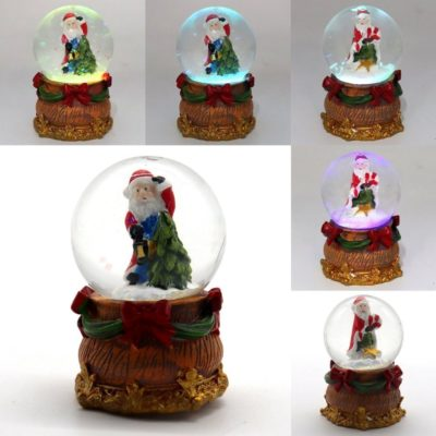 Christmas LED Light Water Ball Globe Santa Snow Glitter Confetti Lamp Home Décor