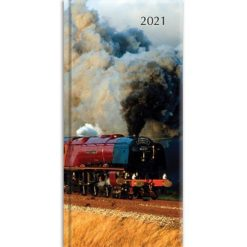 Steam Trains - 2021 Premium Pocket Hard Cover Diary Planner Christmas Xmas New Year Gift