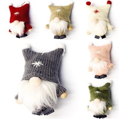 6x Christmas Plush Tree Pendant Hanging Ornaments Faceless Santa Xmas Home Décor