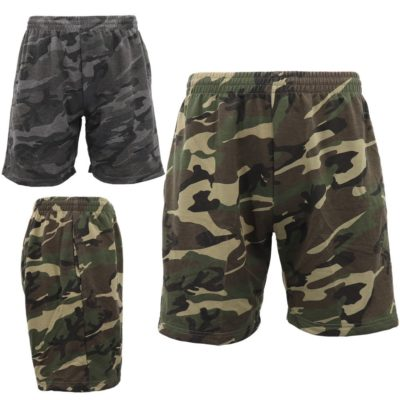 Mens Military Army Camouflage Shorts Tactical Sport Gym Pants Drawstring Pockets