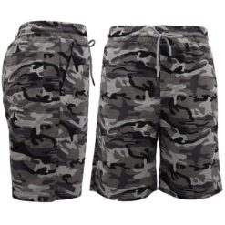 Mens Army Military Camouflage Shorts Tactical Sport Gym Pants Drawstring Pockets