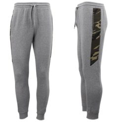 Men's Fleece Lined Slim Cuff Sport Track Pants Military Camouflage Gym Trousers
