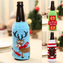 3x Christmas Beer Bottle Alcohol Can Drink Stubby Stubbie Cooler Holder Cover