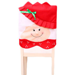 6x Christmas Cute Lady Santa Hat Chair Covers Dinner Home Décor Ornaments Gift